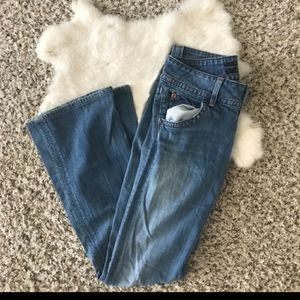 Hudson Woman Boot Cut Jeans Sz 26 L30 Distress